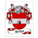 Bridge Family Crest Small Poster