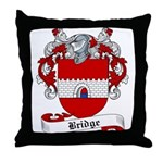 Bridge Family Crest Throw Pillow