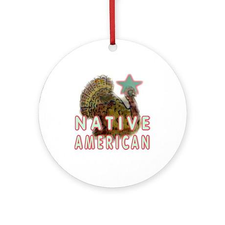 Native American Turkey Ornament (Round)