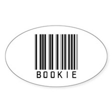 Bookie Barcode Oval Decal