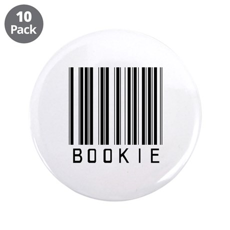 """Bookie Barcode 3.5"""" Button (10 pack)"""