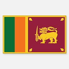 Flag of Sri Lanka Rectangle Decal