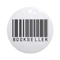 Bookseller Barcode Ornament (Round)