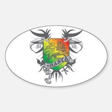 Rasta Winged Oval Decal