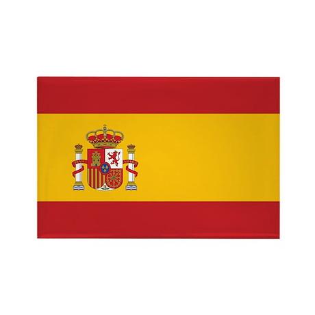 Flag of Spain Rectangle Magnet (100 pack)