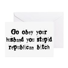 Republican Bitch Greeting Cards (Pk of 10)