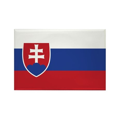 Flag of Slovakia Rectangle Magnet