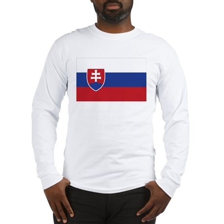 Flag of Slovakia Long Sleeve T-Shirt