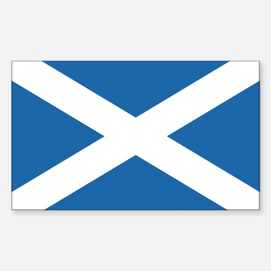 Flag of Scotland Rectangle Decal
