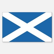 Flag of Scotland Rectangle Sticker 10 pk)