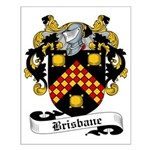 Brisbane Family Crest Small Poster
