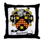 Brisbane Family Crest Throw Pillow