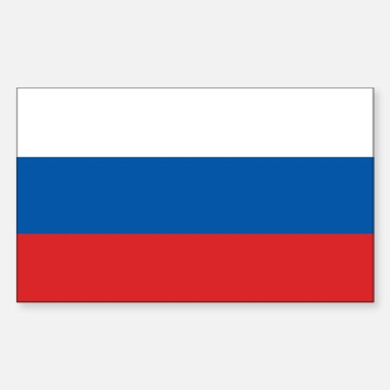 Flag of Russia Rectangle Decal