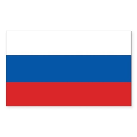 Flag of Russia Rectangle Sticker