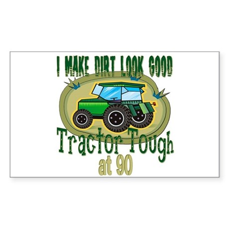Tractor Tough 90th Rectangle Sticker