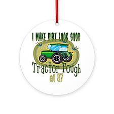 Tractor Tough 87th Ornament (Round)