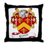 Broun Family Crest Throw Pillow