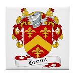 Broun Family Crest Tile Coaster