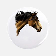 """BuckSkin Horse Face 3.5"""" Button"""