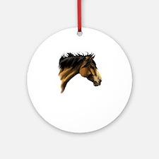 BuckSkin Horse Face Ornament (Round)