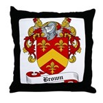 Brown Family Crest Throw Pillow