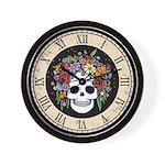Vintage Flower Hair Wall Clock