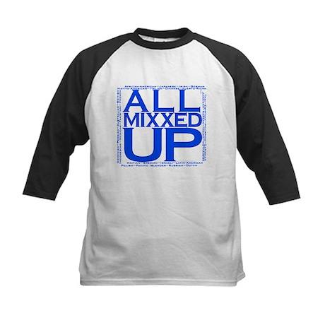 ALL MIXXED UP (blue) Kids Baseball Jersey