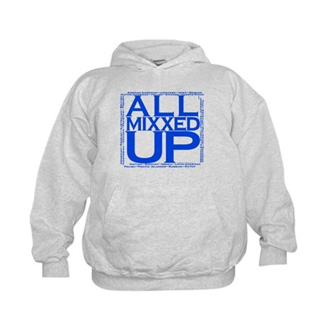 ALL MIXXED UP (blue) Kids Hoodie