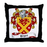 Bryce Family Crest Throw Pillow