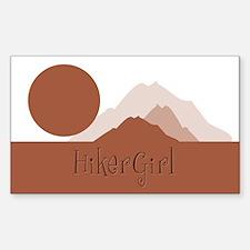 Mountain HikerGirl Rectangle Decal
