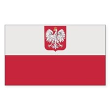 Flag of Poland Rectangle Stickers