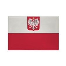 Flag of Poland Rectangle Magnet
