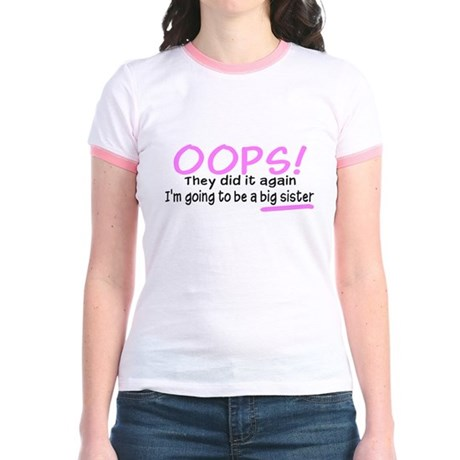 Oops Big Sister Jr. Ringer T-Shirt