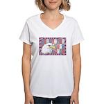 USA Pride Women's V-Neck T-Shirt