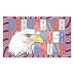 USA Pride Rectangle Sticker 10 pk)