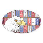 USA Pride Oval Sticker (10 pk)