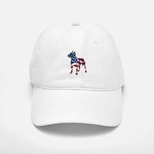 Patriotic Pit Bull Design Baseball Baseball Cap