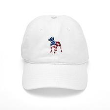 Patriotic Pit Bull Design Baseball Cap