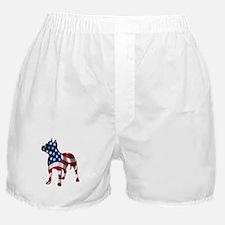 Patriotic Pit Bull Design Boxer Shorts
