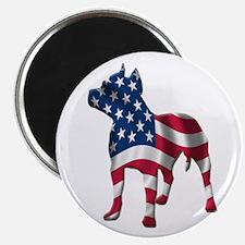 Patriotic Pit Bull Design Magnet