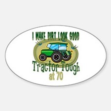 Tractor Tough 70th Oval Decal
