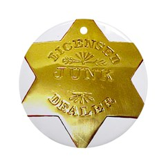 Licensed Junk Dealer Ornament (Round)