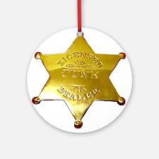 Licensed Junk Dealer Ornament (Round)