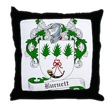 Burnett Family Crest Throw Pillow