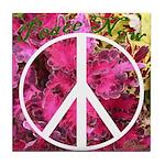 Peace Now! Tile Coaster