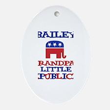 Bailey - Grandpa's Little Rep Oval Ornament