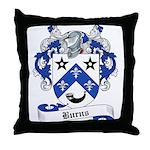 Burns Family Crest Throw Pillow