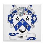 Burns Family Crest Tile Coaster