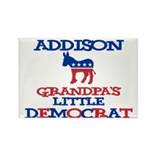 Addison - Grandpa's Democrat Rectangle Magnet