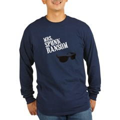 Mrs. Spunk Ransom Long Sleeve Navy Blue T-Shirt